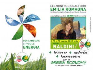 Elezioni regionali 2010 Vota i Verdi e Nicoletta Naldini
